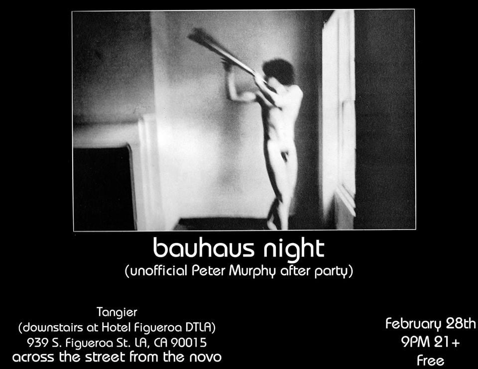 Bauhaus Night in Tangier at The Fig – Peter Murphy After Party