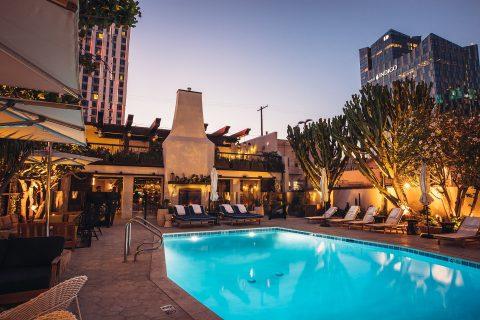 dj poolside at hotel figueroa